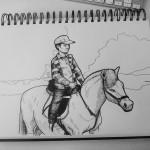 My kid riding a pony