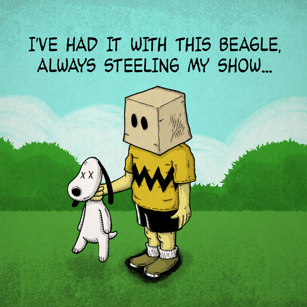 I´ve had it with this beagle, always steeling my show...